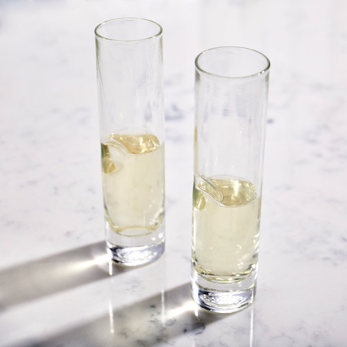 Handblown Champagne Flute by Terrane Glass