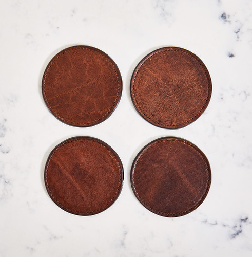 Leather Coasters by Moore & Giles