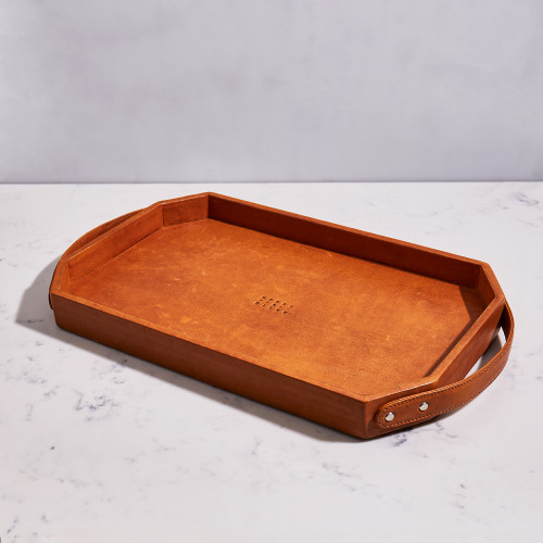 Leather Room Tray by Moore & Giles