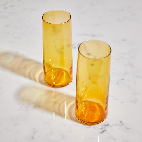 Amber Glasses by Terrane Glass