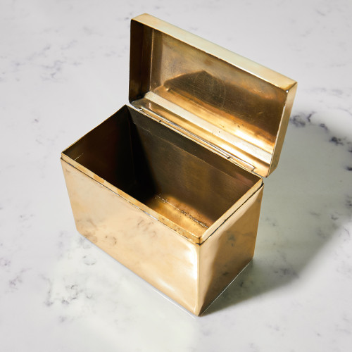 Brass Recipe Box by Sir/Madam