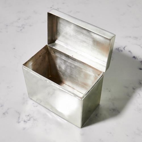 Silver Recipe Box by Sir/Madam