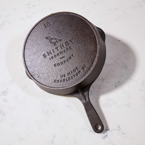No. 10 Cast-Iron Skillet by Smithey Ironware Co.