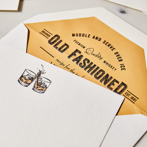 Cocktail Correspondence Cards by Scriptura