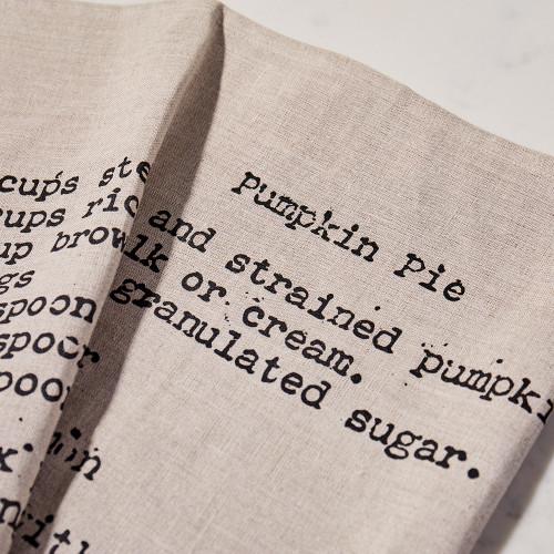 Pumpkin Pie Tea Towel by Heirloomed