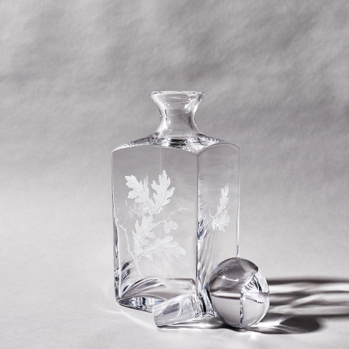 Crystal Oak Leaf Decanter by Julie Wear