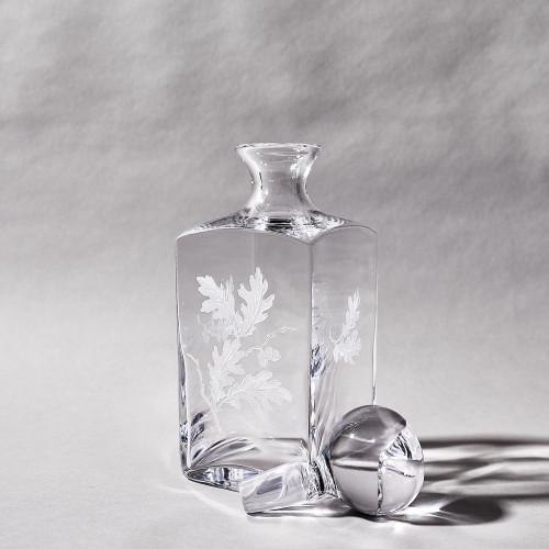 Crystal Oak Leaf Decanter by Julie Wear