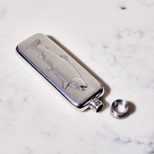 Fish Boot Flask by Corbell Silver