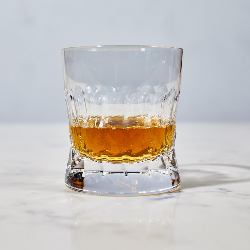 Crystal Etched Whiskey Glass No. 1 by J. Hill's Standard