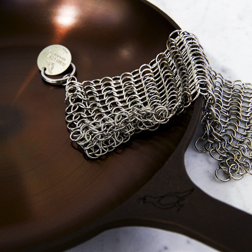 Stainless-Steel Chain Mail Scrubber by Smithey Ironware Co.