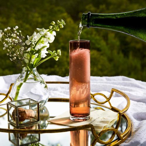 Blush Champagne Flute by Terrane Glass