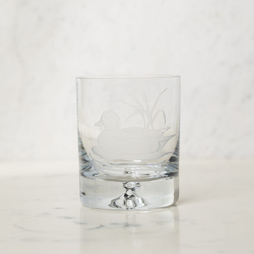 American Ducks Crystal Glassware Set by Julie Wear