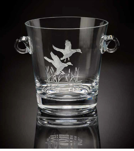 Flying Mallard Ice Bucket by Julie Wear
