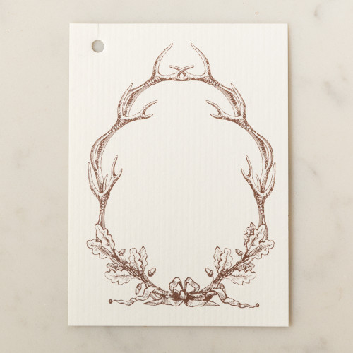 Antler Wreath Gift Tag by Alexa Pulitzer