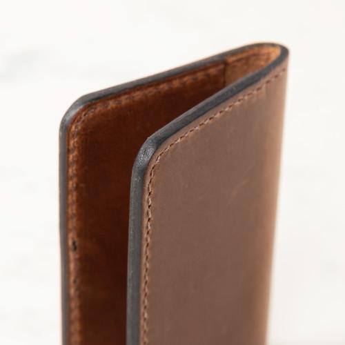 Dark Brown Card Holder by Clayton & Crume