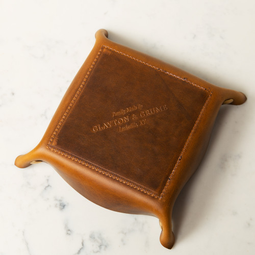Leather Catch-All Tray by Clayton & Crume