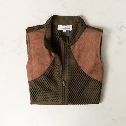 Olive Mesh Shooting Vest by Kevin's
