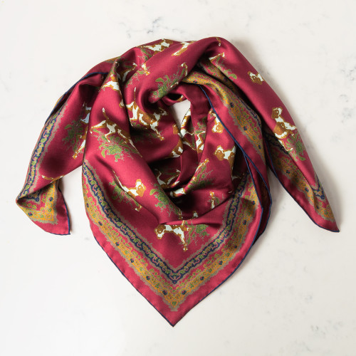 Hunt Dog Silk Scarf by Kevin's