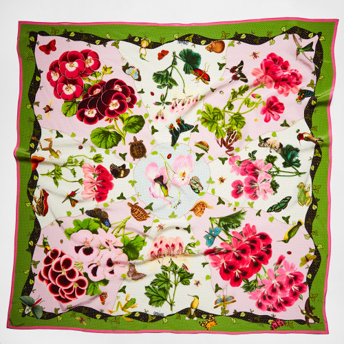 Geranium Pink White Scarf by Carson & Co.