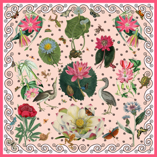 Pink Waterlilly Blush Scarf by Carson & Co.