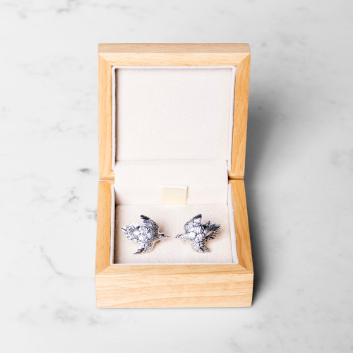 Silver Dove Cufflinks by Grainger McKoy