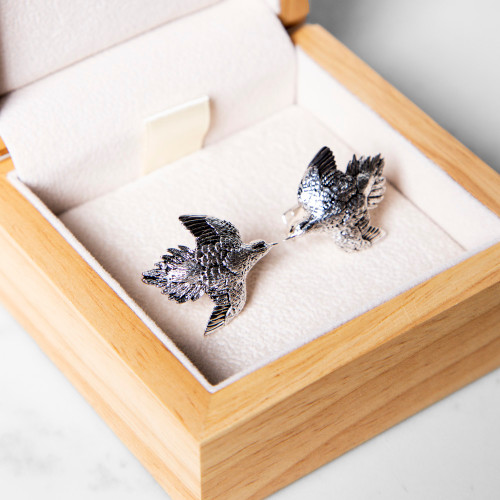 Silver Dove Cufflinks by Grainger McKoy