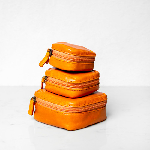 Tangerine Travel Pouches by Moore & Giles