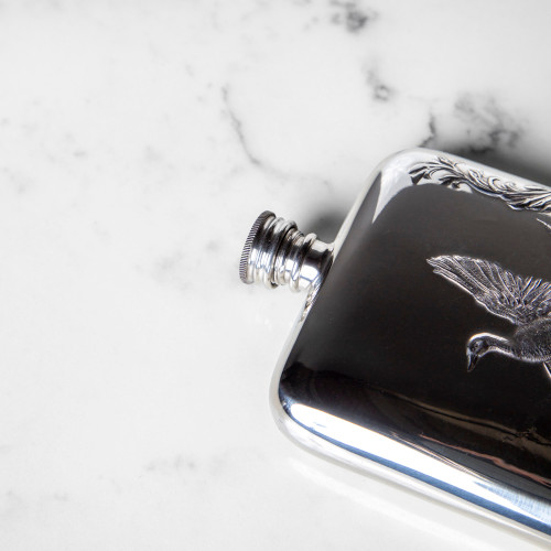 Pewter Duck Flask by Corbell Silver