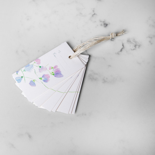Sweet Pea Vine Gift Tags by Isa Salazar