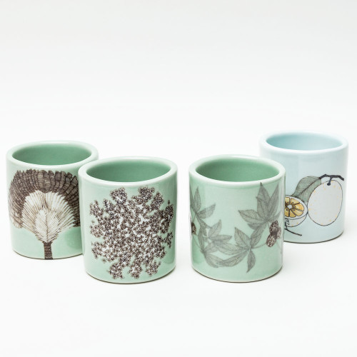 Queen Anne's Lace Cup by SKT Ceramics