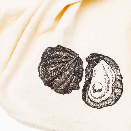 Oyster Kitchen Towel by SKT Ceramics