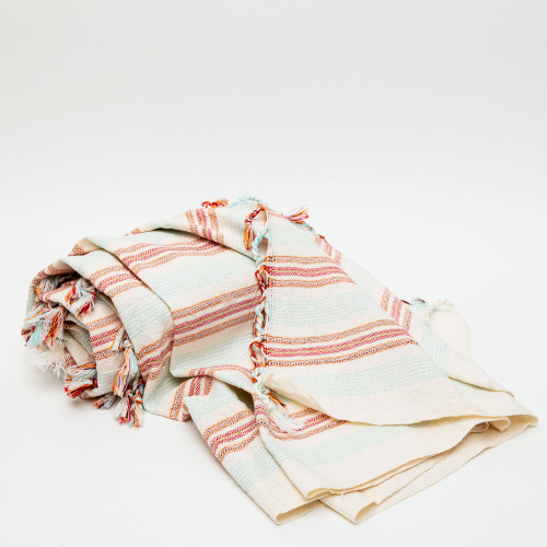 Orange & Cream Hudson Towel by Home & Loft