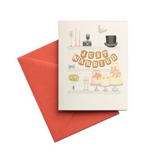 Wedding Shelfie Card by Belle & Union
