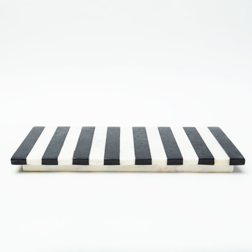 Striped Marble Tray by Be Home