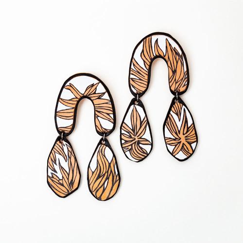 Chrysanthemum Drop Earrings by Molly Virginia Made