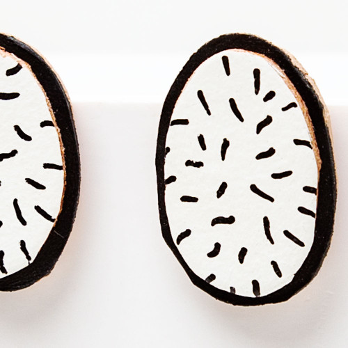 White Fizz Stud Earrings by Molly Virginia Made