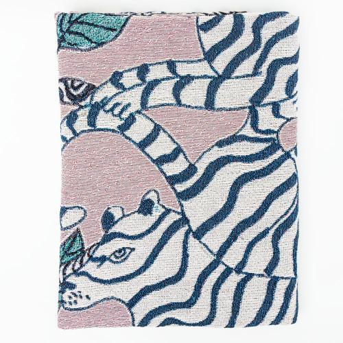 Lavender Tiger Blanket by Olivia Wendel