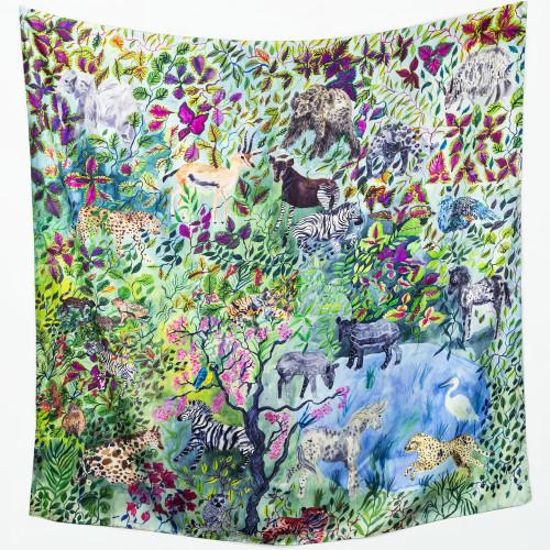 Animal Kingdom Silk Scarf by Olivia Wendel