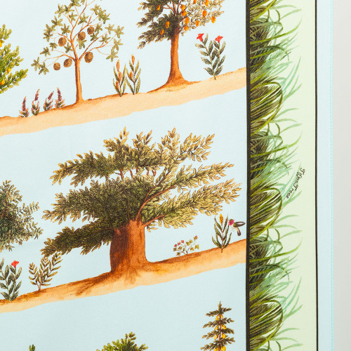 Tifton Trees Aqua Scarf by Carson & Co.