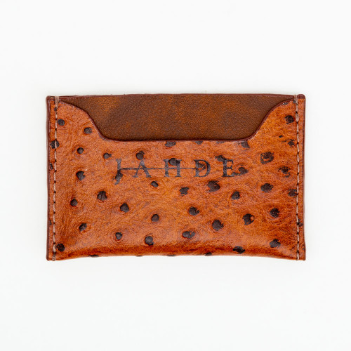 Embossed Leather Society Wallet by Jahde Leather Atelier