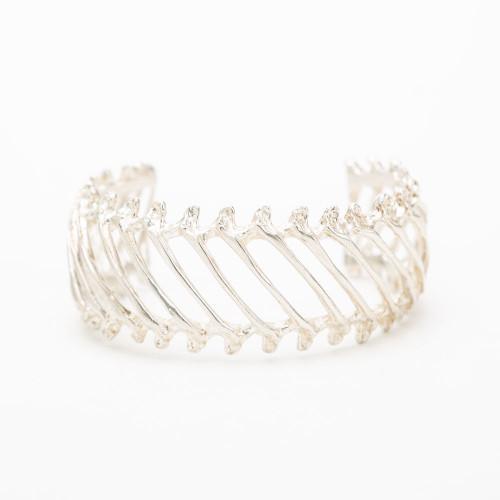 Silver Rattlesnake Rib Cuff by Gogo Jewelry