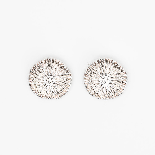 Silver Dolphin Disc Earring by Gogo Jewelry