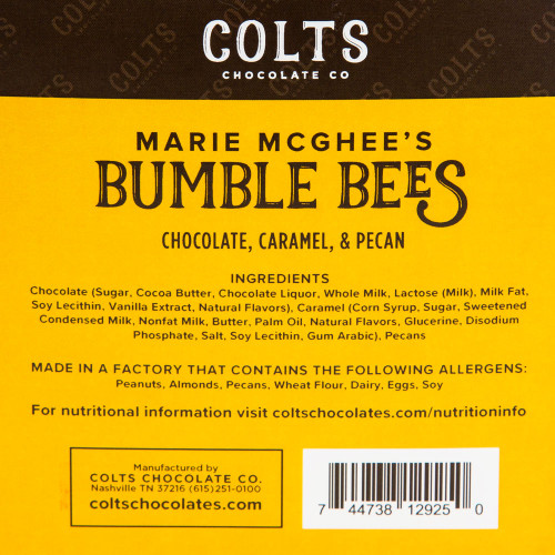 Milk Chocolate Bumble Bees by Colts Chocolate Co.