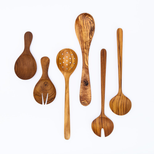 Olive Wood Kitchen Tools by Be Home