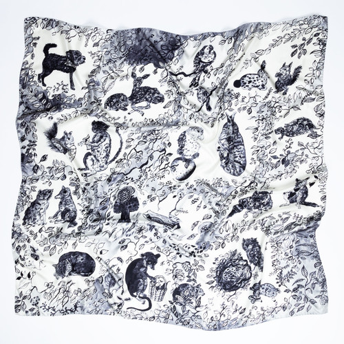 Forest Creatures Scarf by Olivia Wendel