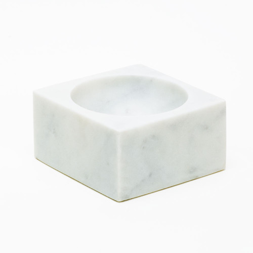 White Marble Modernist Bowl by Sir/Madam