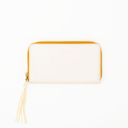 White Zip Clutch by Stick & Ball