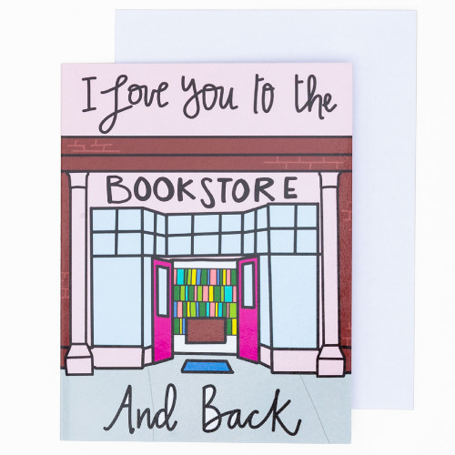 Love to the Bookstore and Back Card by Pretty Peacock Paperie