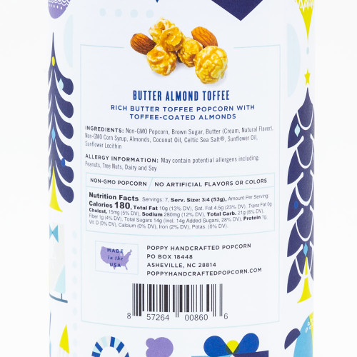 Butter Almond Toffee Popcorn by Poppy Hand-Crafted Popcorn