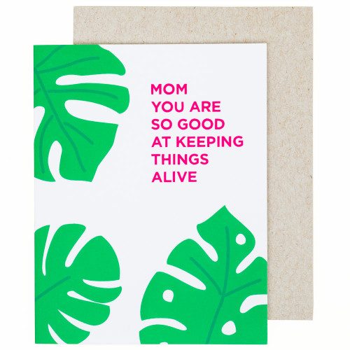 Mother's Day Monstera Card by Graphic Anthology